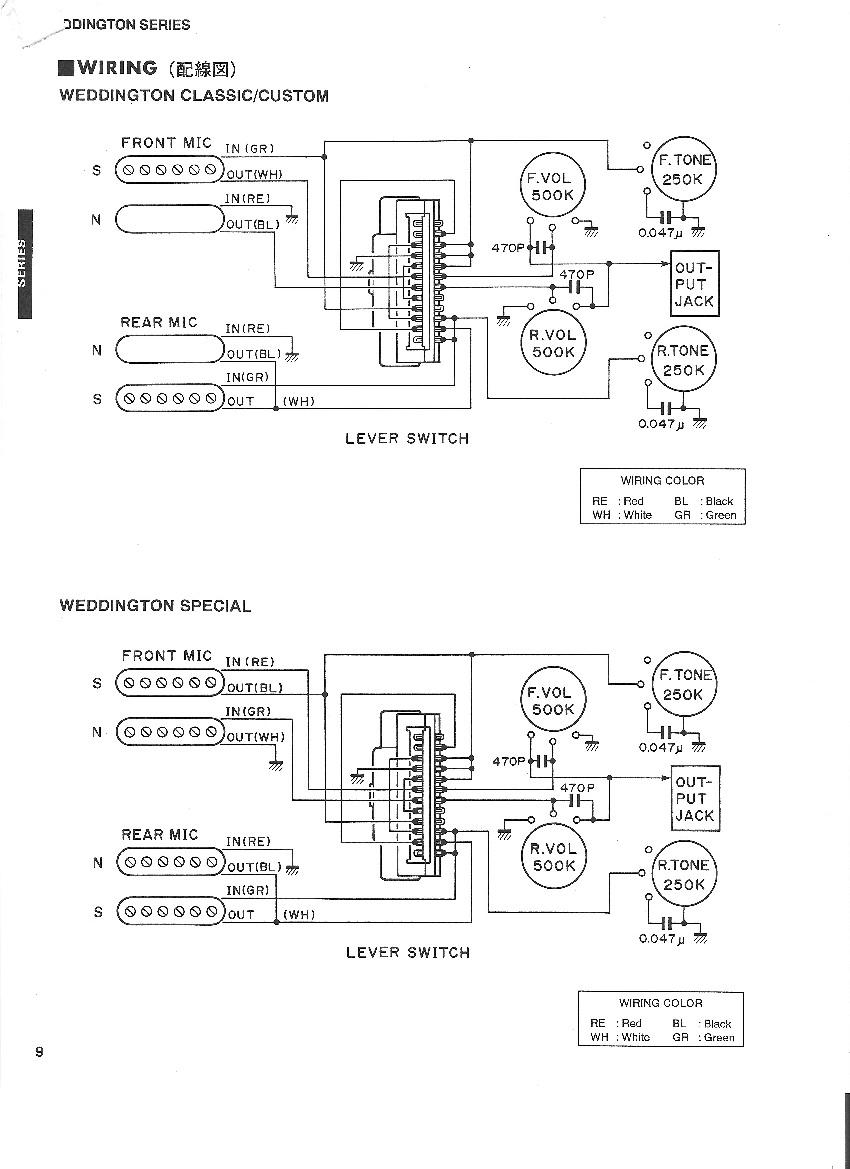 [SCHEMATICS_4LK]  Yamaha Weddington Guitars | Alston Guitars Kit Wiring Diagram |  | Bill Alston